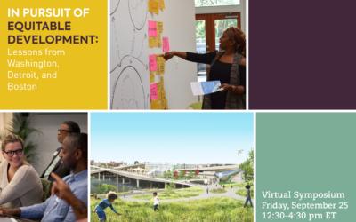 September 25: Harvard Equitable Development Symposium